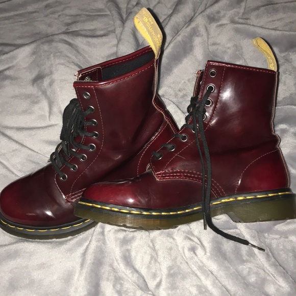 8f16c9fc3872 Dr. Martens Shoes | Dr Martens Cherry Red Vegan 1460 Leather Boots ...